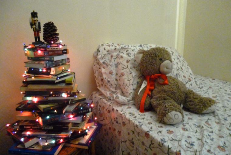 Cómo hacer un árbol de Navidad conlibros